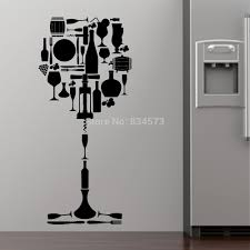 Wine Decorating Ideas For Kitchen by Wine Wall Decor Wine Wall Decals Wall Quotes Glass Of Wine Cafe