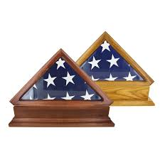 Flag Folded Into Triangle Flag Display Cases For 5 Ft X 9 5 Ft Flag