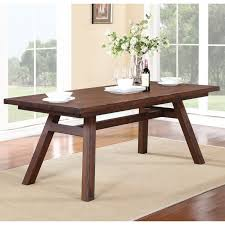 solid walnut dining table modus portland solid wood round dining table medium walnut hayneedle