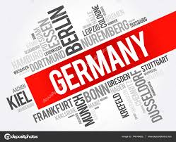 list of cities in germany word cloud u2014 stock vector dizanna