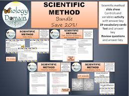 scientific method test review questions and answer keys by