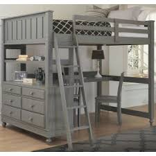 lake house stone full loft bed with desk from ne kids coleman