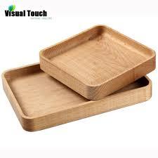 tray plates visual touch japanese wooden plates handmade zelkova wood zakka