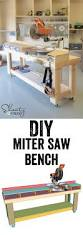 best 25 diy garage storage ideas on pinterest tool organization free plans diy miter saw bench plans for the workbench and the