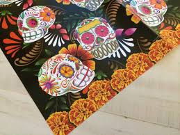 skull wrapping paper sugar skull black wrapping paper