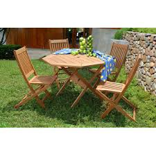 5 piece patio table and chairs 54 octagon patio table set fifthroom red cedar octagon walk in