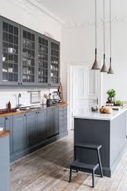 flat front kitchen cabinets birch wood chestnut shaker door kitchen with gray cabinets