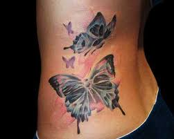 butterfly tattoos for lower back cool skull