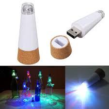 cork shaped rechargeable bottle light cork shaped empty bottle light colorful led rechargeable usb table