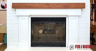 How To Build Fireplace Mantel Shelf - build fireplace mantel over stone rough wood diy shelf plans