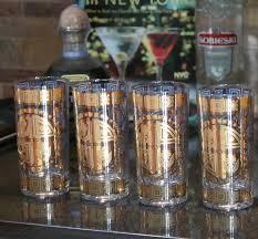 vintage cocktail set vintage cocktail set 22k gold royal blue retro highball liquor