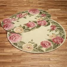 Bathroom Throw Rugs Roses Oval Rug