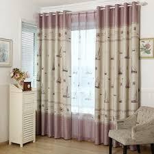 Light Block Curtains Light Grey Bird Polyester Waterproof Shower Curtains