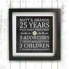 25 wedding anniversary gifts gift ideas for 25th wedding anniversary wedding gifts wedding