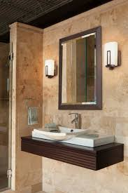 Light Sconces For Bathroom Bathroom Modern Wall Sconce Applied Above Bathroom Vanity For
