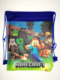 minecraft goody bags minecraft draw string party bag design b birthday goodie bags