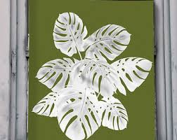 Tropical Decor Tropical Print Fan Palm 1 Green On White Tropical Decor Island