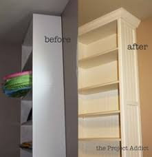 ikea billy bookcase hack diy built ins from ikea bookcases orc week 2 vertical storage