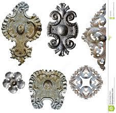 antique metal decorations stock image image of iron 19324365