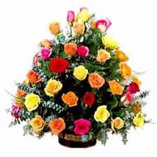 multicolor roses order 36 multicolor roses basket online in delhi ncr same day