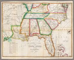 United States Maps by Southern Section Of The United States Including Florida David