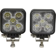 led automotive work light ironton mini led work lights 2 pk 1 050 lumens 5 leds