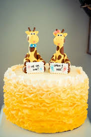 sweet simplicity bakery yellow giraffe theme gender reveal party