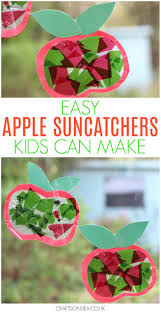easy apple suncatchers crafts on sea