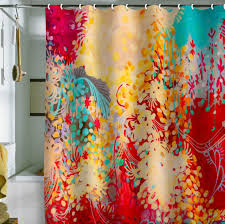 Bright Shower Curtain In Seven Colors Colorful Designs Pictures And Magazines