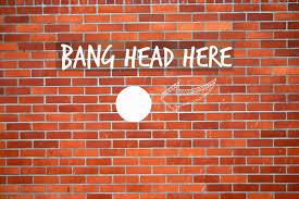 Brick Wall Meme - bang head against brick wall channel instincts a marketing blog