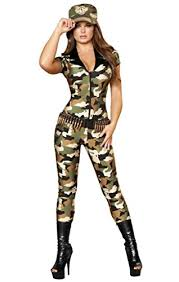Catsuit Halloween Costumes Military Catsuit Womens Costume Costumelook