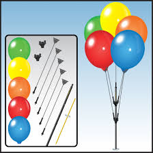 plastic balloons balloon cluster pole kit balloons on a stick