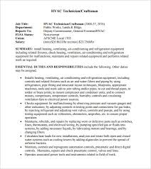 Sample Resume For Hvac Technician by Hvac Resume Objective Top 8 Hvac Engineer Resume Samples In This