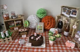 deco de table pour anniversaire un anniversaire thème ferme organisation baby shower