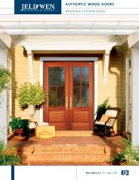 Jeldwen Patio Doors Authentic Wood Exterior Doors Jeld Wen Pdf Catalogues