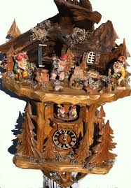 Regula Cuckoo Clock Black Forest Master Carvers Woodland Knomes Cuckoo Clock On Offer
