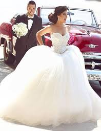 poofy wedding dresses princess bridal dress sweetheart appliques sparkly beading giltter