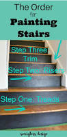 Best Paint For Stair Banisters Best 25 Paint Stairs Ideas On Pinterest Painted Stairs