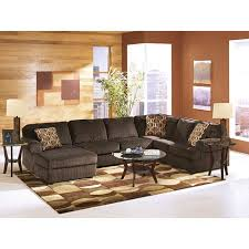 Rent Living Room Furniture Rent Vista Chocolate 3 Sectional