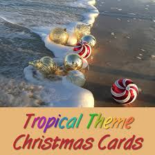 personalized boxed christmas cards personalized and boxed tropical christmas cards