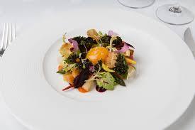 Roots Vegetable Crisps - gravetye winter garden salad confit hens yolk root vegetables