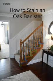 Gel Stain Banister 60 Carpet To Hardwood Stair Remodel