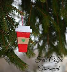 felt coffee cup ornaments one artsy