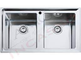 lavello cucina franke lavello franke neptune plus npx 620 cm 86x5 2v acciao inox amg