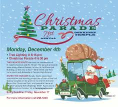 christmas parade and tree lighting temple tx official website