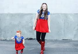 supergirl halloween costumes mommy u0026 me costumes positively oakes