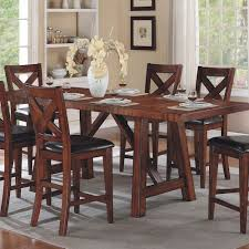 kingston dining room table winners only kingston counter height trestle table with two leaves