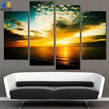 4 pieces free shipping beach seascape modern wall painting