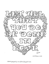 coloring pages for kids by mr adron do everything in love 1