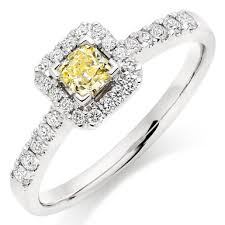 diamond halo rings images 18ct white gold yellow diamond halo ring 0000238 beaverbrooks